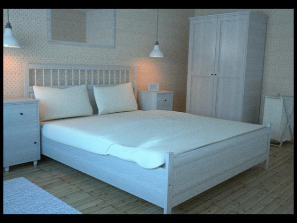 free hemnes bedroom collection c4d and obj cinema4d sources