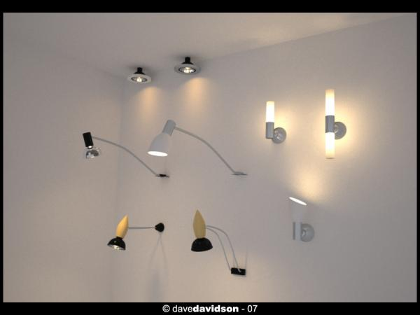 Free various light fixtures part 1 c4d and obj   cinema4d sources